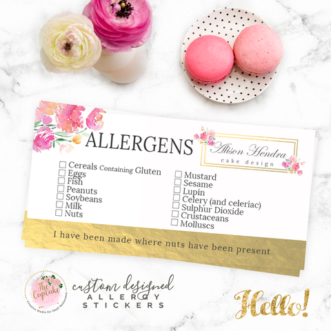 Personalised Food Allergy Stickers