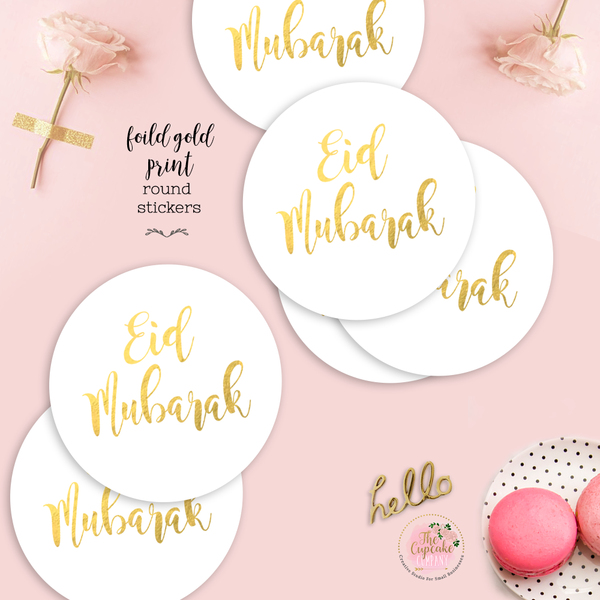 EID Foiled Stickers