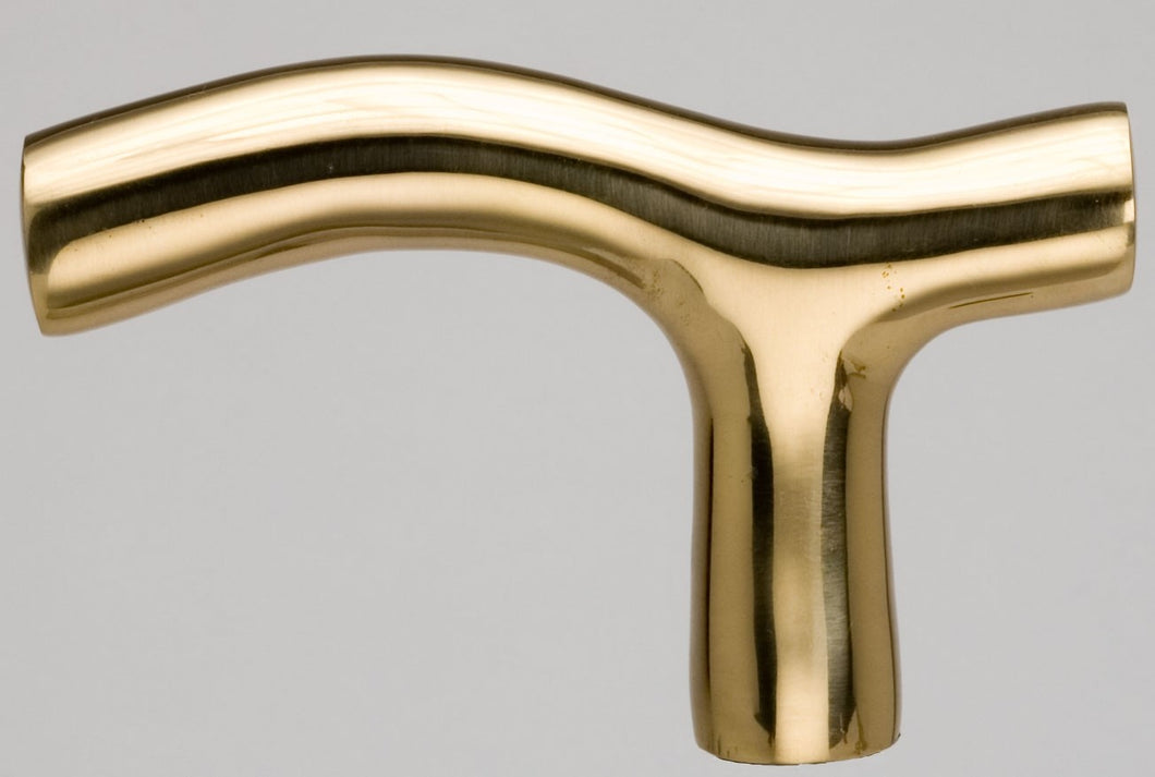 Smooth Brass T Cane Handle (Shopify)