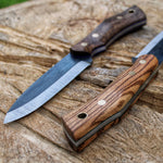 The Woodsman, A new camping knife model, made to be used in the outdoor world. Made in O1 tool steel, a high carbon steel that dates back to the year 1905. Made by hand in Denmark, Danish Knifemaker Mikkel Hvedegaard 22 years old