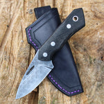 Huntee - Damasteel Rose pattern & Bog Oak