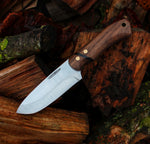 Custom Handmade Bushcraft Knife, Made in Denmark