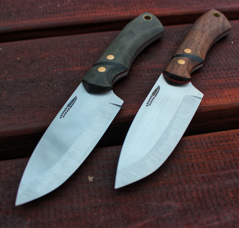 Two Buschraft knives, made by Hvedegaard Knives, Made in Denmark, Mikkel Hvedegaard