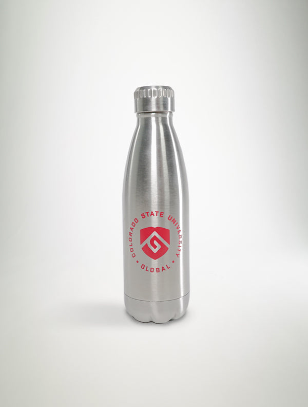CSU Global Aluminum Water Bottle - Seal Logo