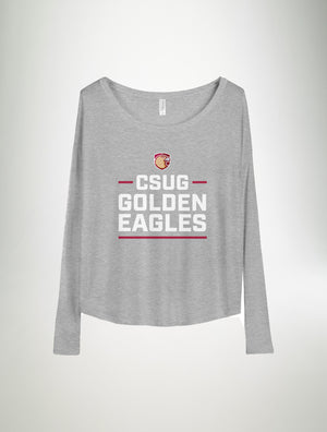 CSUG Golden Eagles - Ladies Flowy Long Sleeve