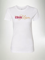 Proud CSUG Mom - Women's T-shirt - Burgundy & Gold