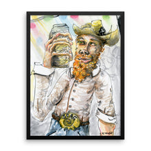 Slim With Bottle - Framed Print