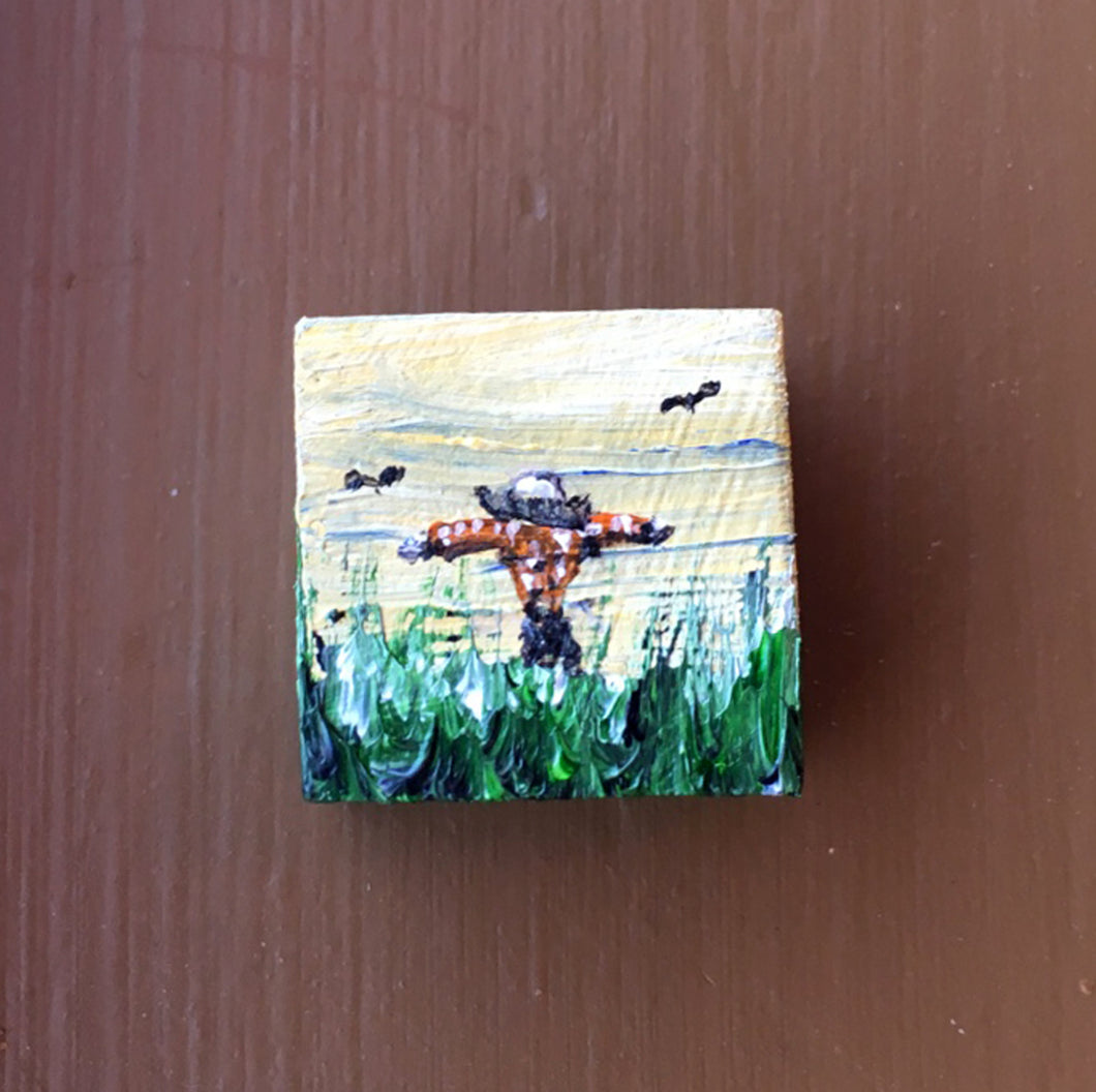 Solo Charm Painting - Scarecrow, Bird Charmer, Tiny Friend