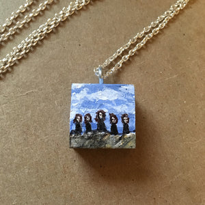 Quinn Women of the Ridge - Charm Painting - Five Sisters Under Blue Skies, Tiny Art