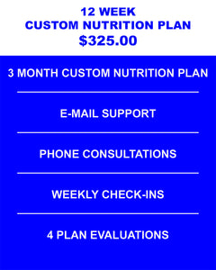 12 Week Custom Nutrition Plan