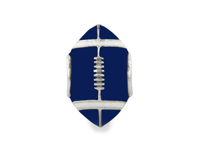 Penn State Enamel Football Bead