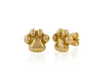 Penn State Nittany Lion Paw 14KY Earrings