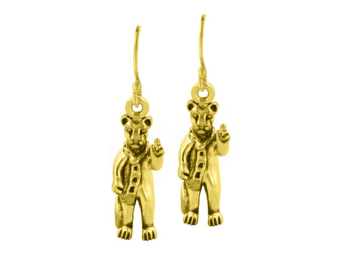 Nittany Lion Mascot Earrings