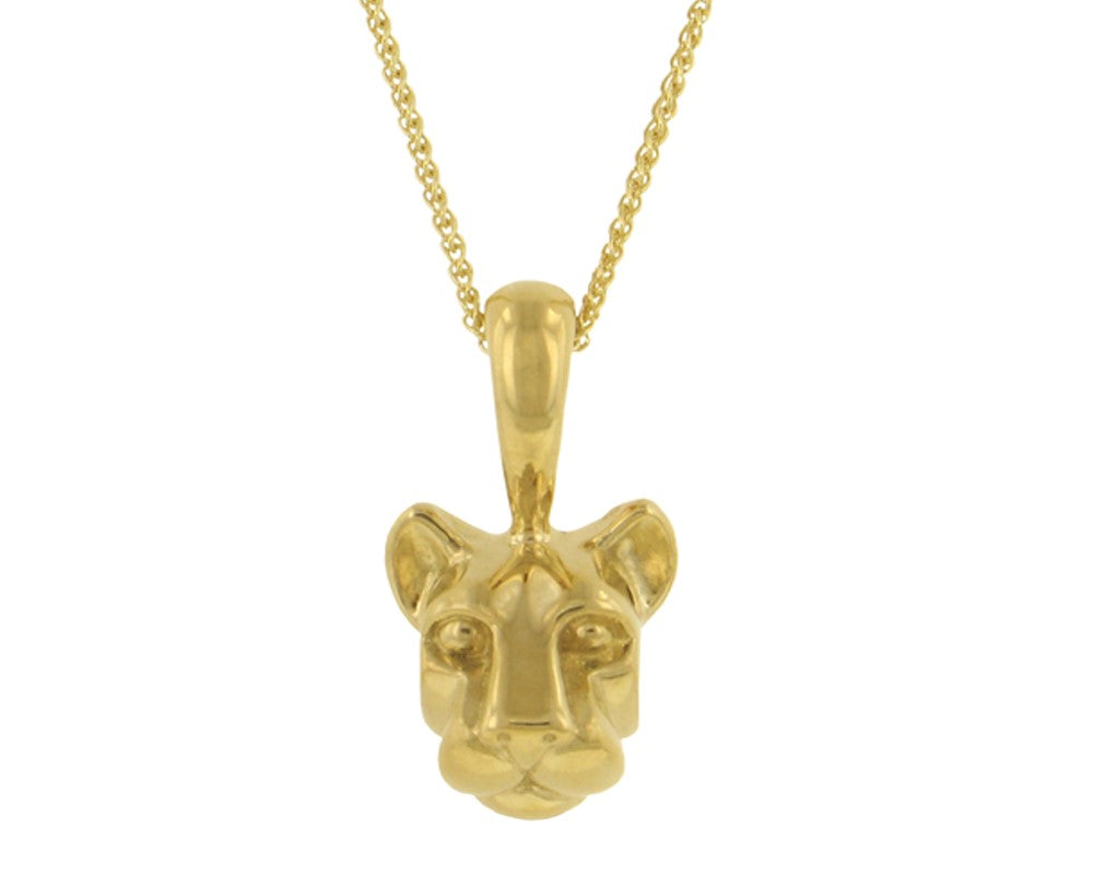 Penn State Nittany Lion Head Pendant-14KY Gold