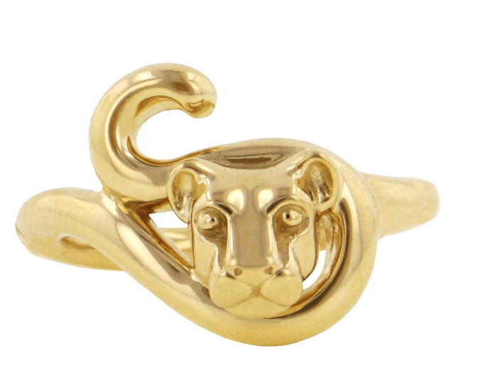 Penn State Nittany Lion Heads & Tails Ring, 14KY Gold