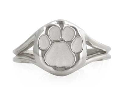Nittany Lion Paw Tracks Ring