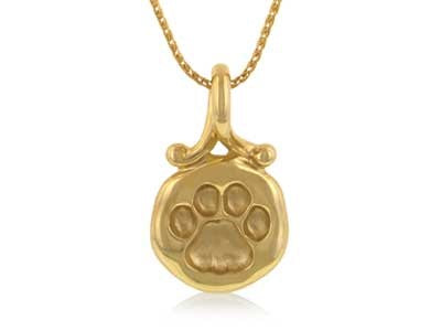 Nittany Lion Tracks 14KY Gold Pendant