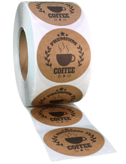 Custom Printed Brown Kraft Labels from a Roll
