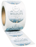 Round EXTREME Water-Resistant White BOPP Roll Label - Custom Printed