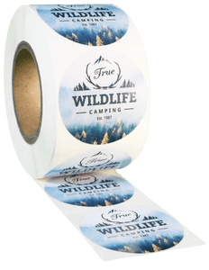 Round White High Gloss Roll Label - Custom Printed