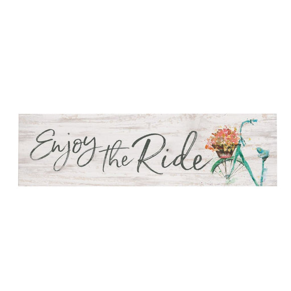 Enjoy the Ride Desk Sign