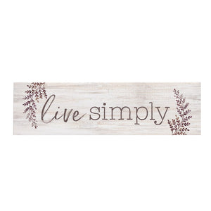 Live Simply Desk Sign