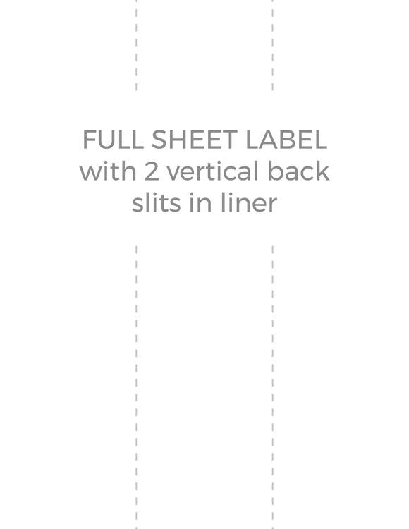 8 1/2 x 11 Rectangle PREMIUM Water-Resistant White Inkjet Label Sheets (Pack of 250) (w/ 2 vert back slits)