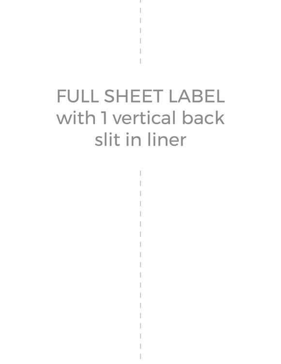 8 1/2 x 11 Rectangle PREMIUM Water-Resistant White Inkjet Label Sheets (Pack of 250) (w/ 1 vert back slit)