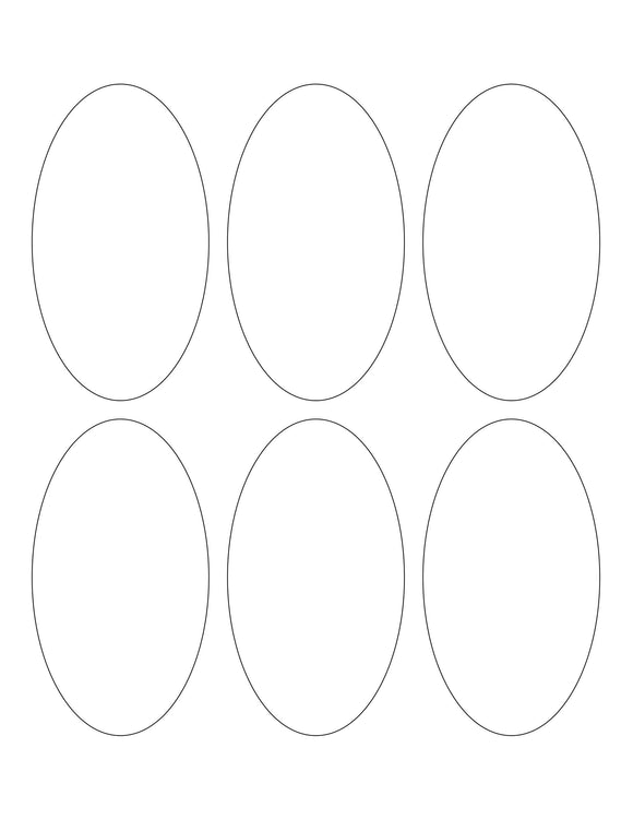 2.375 x 4.25 Oval Hang Tag Sheet (Die-Cut White Cardstock)