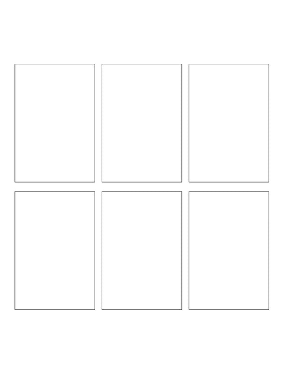 2.375 x 3.5 Rectangle Hang Tag Sheet (Die-Cut White Cardstock)