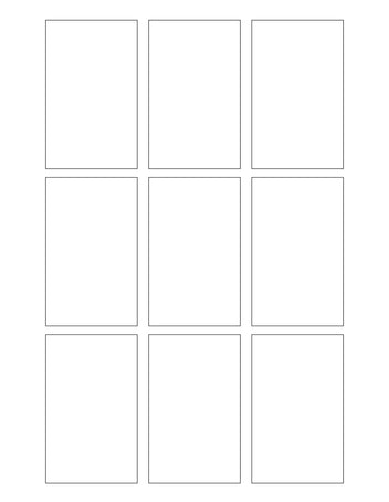 2 x 3.25 Rectangle Hang Tag Sheet (Die-Cut White Cardstock)