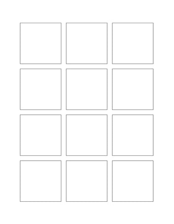 2 x 2 Square Hang Tag Sheet (Die-Cut White Cardstock)