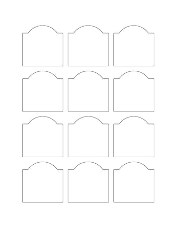 2 x 2 Dome Top Rectangle Hang Tag Sheet (Die-Cut White Cardstock)