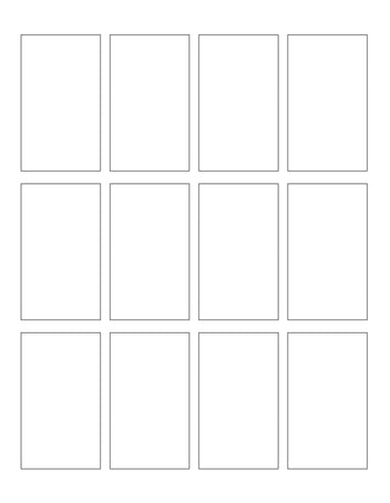 1.75 x 3 Rectangle Hang Tag Sheet (Die-Cut White Cardstock)