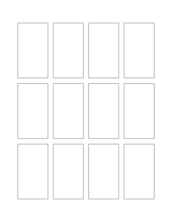1.5 x 2.75 Rectangle Hang Tag Sheet (Die-Cut White Cardstock)