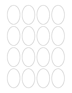1.5 x 2.25 Oval Hang Tag Sheet (Die-Cut White Cardstock)