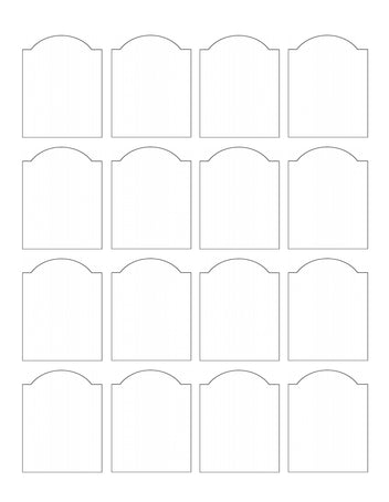 1.75 x 2.25 Dome Top Rectangle Hang Tag Sheet (Die-Cut White Cardstock)