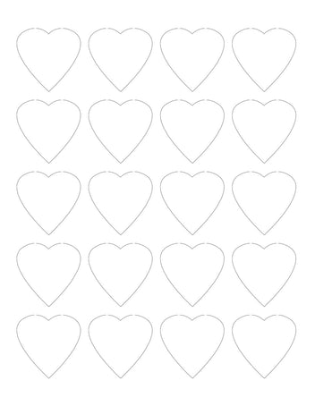 1.75 x 1.75 Heart Shaped Hang Tag Sheet (Die-Cut White Cardstock)
