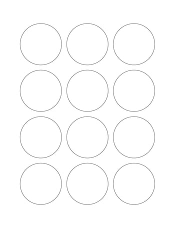 2 Diameter Round Hang Tag Sheet (Die-Cut White Cardstock)