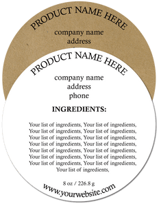 Ingredient Label #2 - Round