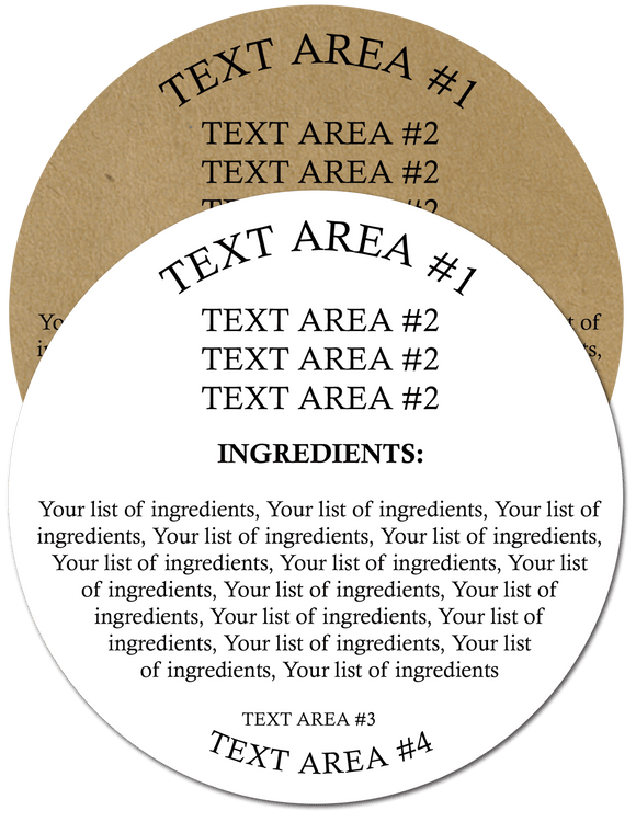 Ingredient Label #4 - Round