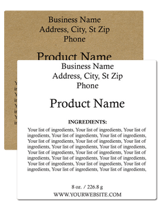 Ingredient Label #6 - Square