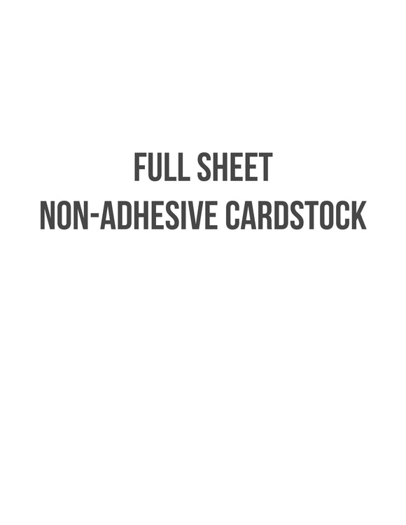 8 1/2 x 11 Non-adhesive Natural Ivory Cardstock