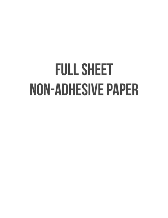 8 1/2 x 11 Non-adhesive Natural Ivory Paper