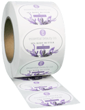 Oval EXTREME Water-Resistant White BOPP Roll Label - Custom Printed