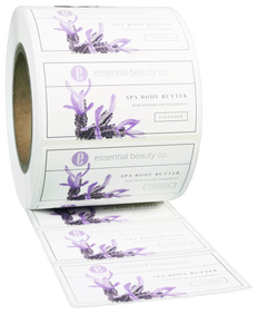 Rectangle EXTREME Water-Resistant White BOPP Roll Label - Custom Printed