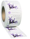 Square EXTREME Water-Resistant White BOPP Roll Label - Custom Printed