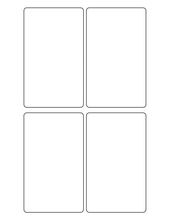 3 x 5 Rectangle White Opaque BLOCKOUT Printed Label Sheet