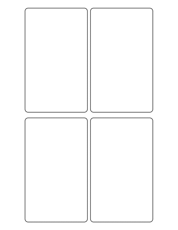 3 x 5 Rectangle White Label Sheet