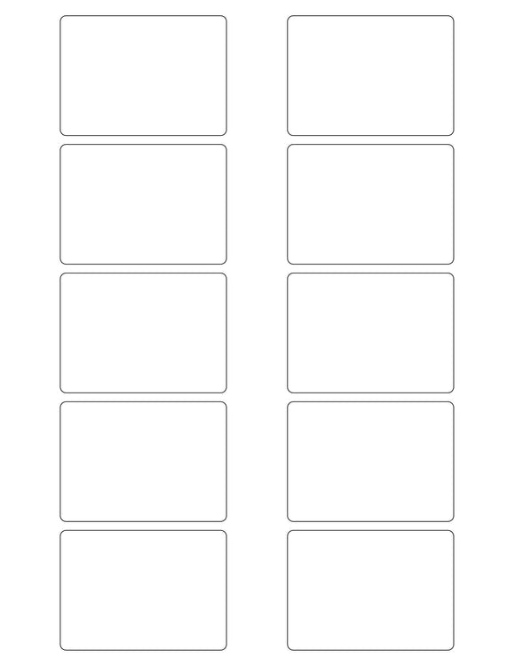 2 3/4 x 2 Rectangle Natural Ivory Printed Label Sheet